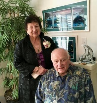 Clairelee Leiser Bulkley and Ralph Bulkley photograhed in their home.