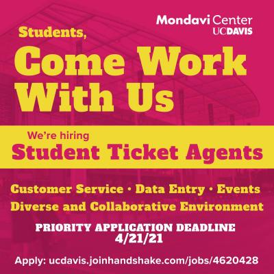Image details our current job posting for Student Ticket Agents.