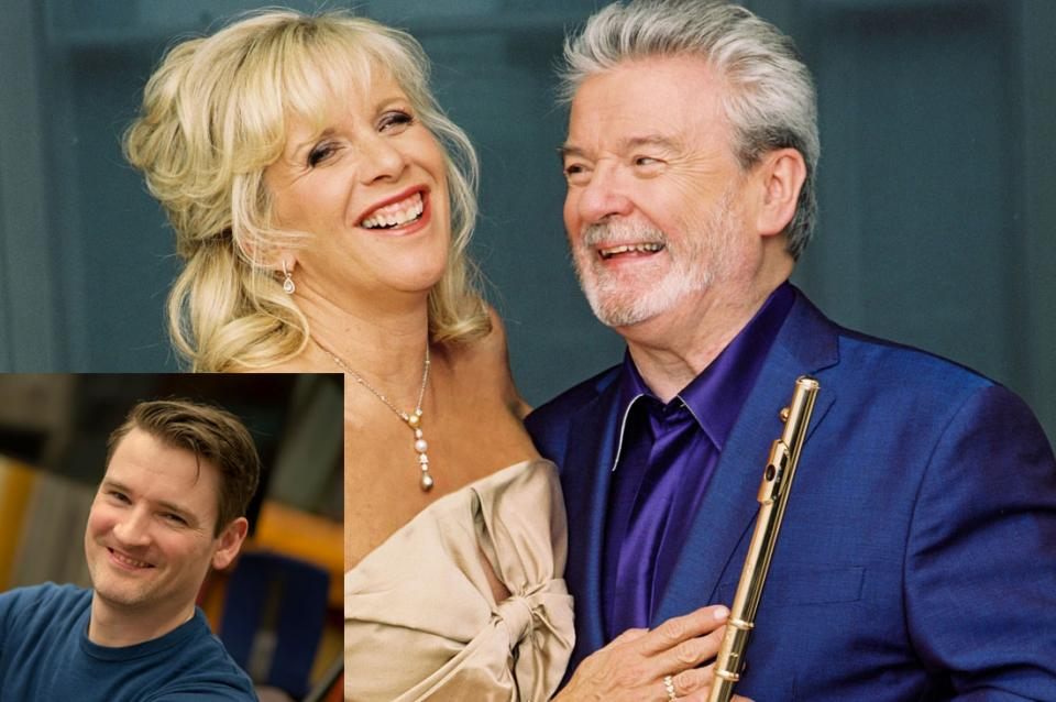 Sir James Galway and Lady Jeanne Galway with Michael McHale, piano