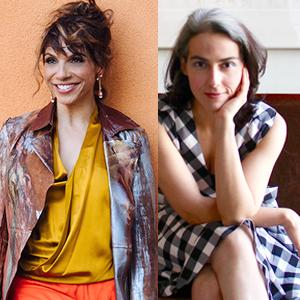 Lara Downes (left) and Clarice Assad (right) pose for a photo.