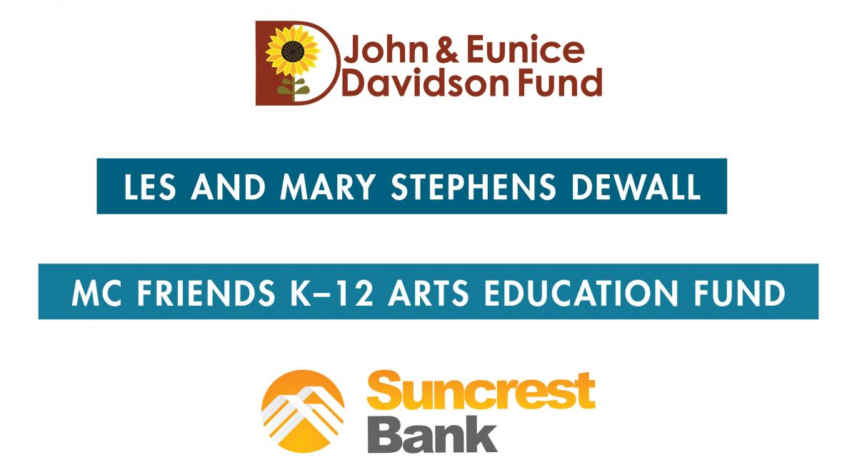Thank you to our Arts Education Sponsors