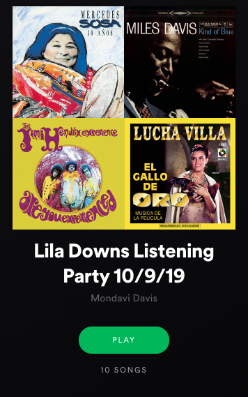 Lila Downs Listening Party Playlist